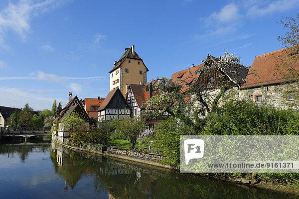 Fluss Eingang Bayern Franken Deutschland