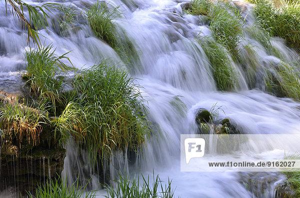 Wasserfall Skradinski buk  Detail  Krka-Nationalpark  Gespanschaft ?ibenik-Knin  Dalmatien  Kroatien