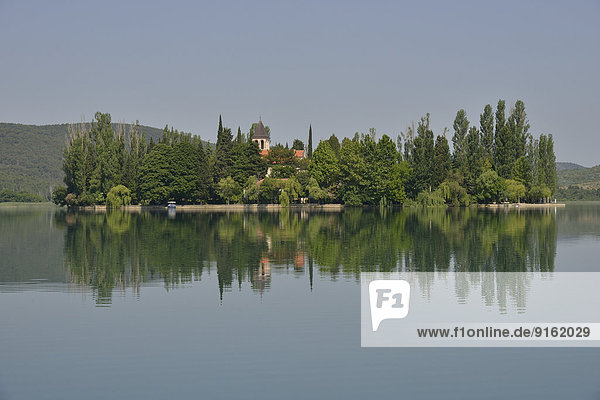 Klosterinsel Visovac  Krka-Nationalpark  Gespanschaft ?ibenik-Knin  Dalmatien  Kroatien