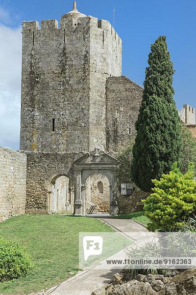 Turm der Burg Castelo de Palmela  Distrikt Setúbal  Portugal