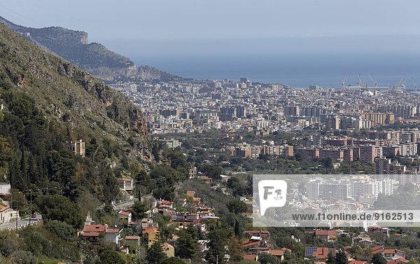 Ansicht Bucht Italien Palermo Sizilien