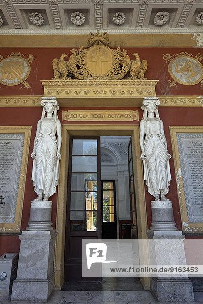 Botanischer Garten Botanische Eingang Nostalgie Turnhalle Italien Palermo Portal Sizilien