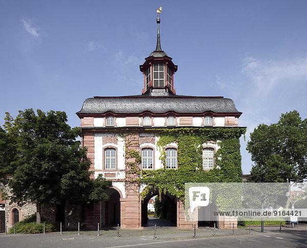 Frankfurter Tor  historisches Stadttor  Hanau  Hessen  Deutschland