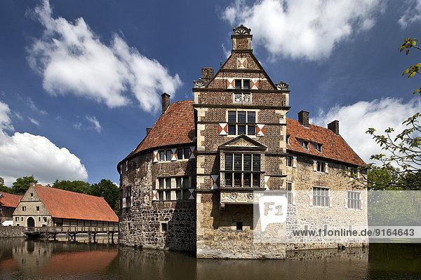 Burg Vischering  Lüdinghausen  Westmünsterland  Münsterland  Nordrhein-Westfalen  Deutschland