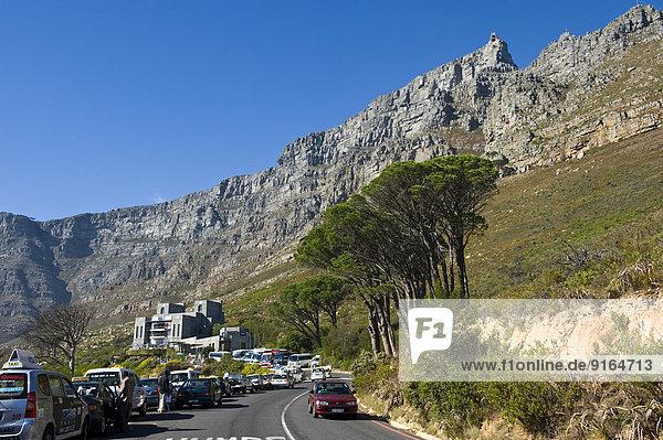 Südliches Afrika Südafrika Berg Tisch Kapstadt Haltestelle Haltepunkt Station Western Cape Westkap