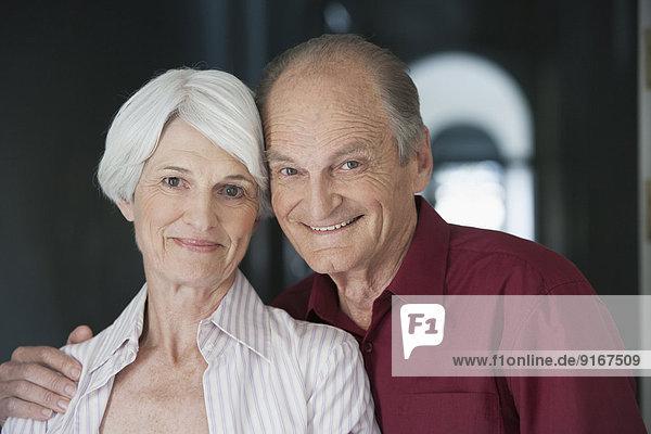 Senior Caucasian couple smiling together