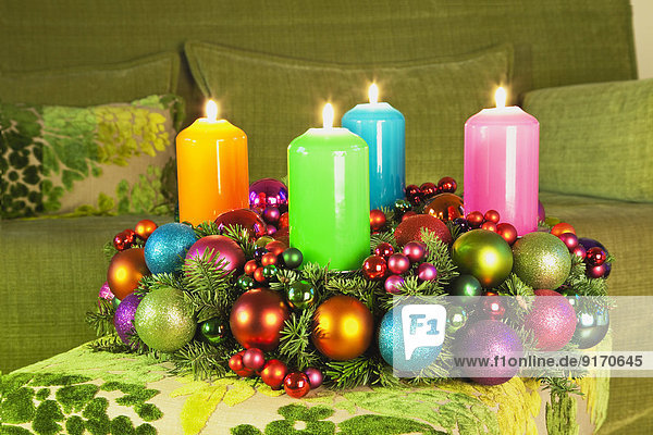 Germany    Advent wreath  Couch  Living room