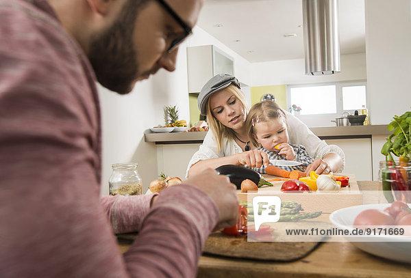 Familienkochen in der heimischen Küche