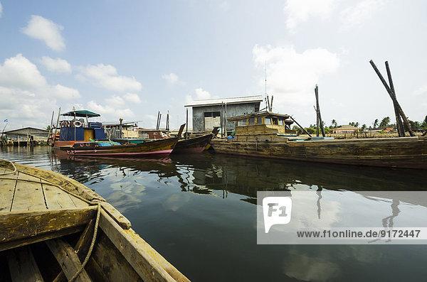 Indonesia  Riau Islands  Bintan Island  Fishing village  Fishing boats