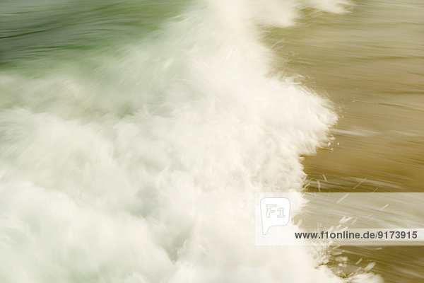 Australia  New South Wales  Pottsville  close-up of breaking waves
