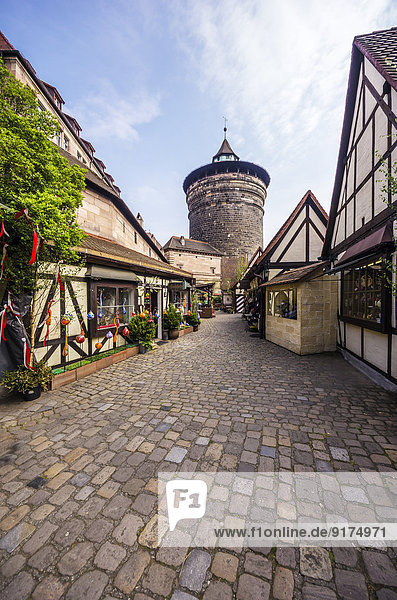 Deutschland  Bayern  Nürnberg  Blick auf den Handwerkermarkt