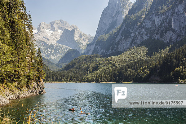 Austria  Gosau  alpine landscape with lake
