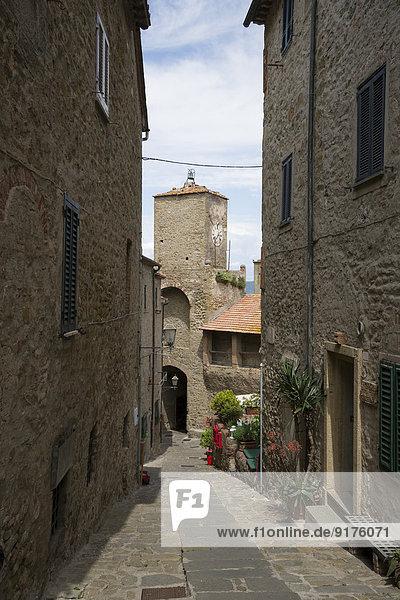 Italien  Toskana  Castiglione della Pescaia  Altstadt