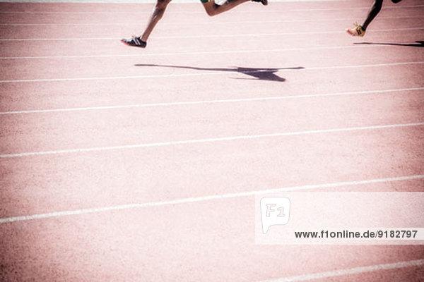 Läufer auf der Rennstrecke