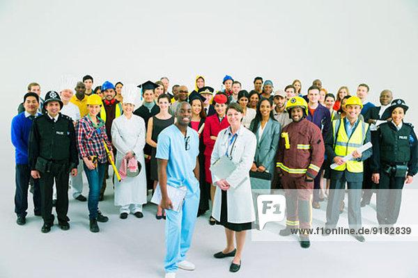 Porträt diverser Mitarbeiter