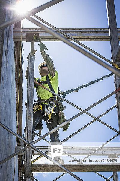 bauen Europäer arbeiten Gerüst