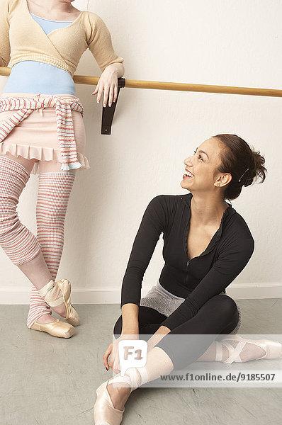 Entspannung Tänzer Studioaufnahme Ballett