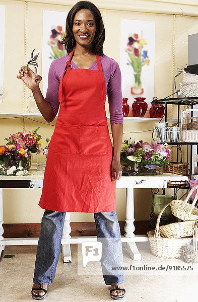 arbeiten schwarz Laden Florist