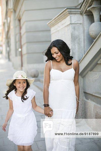 lächeln Tochter Mutter - Mensch