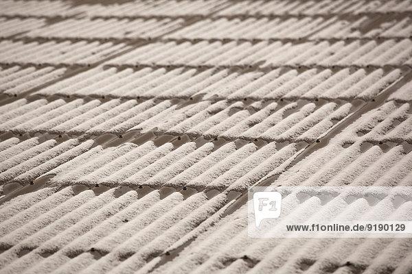 Vollbildaufnahme von gemusterten Dachziegeln