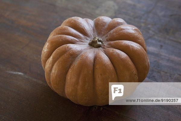 Close-up of pumpkin on table