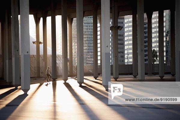 Sonnenlicht durch bleistiftförmige Säulen