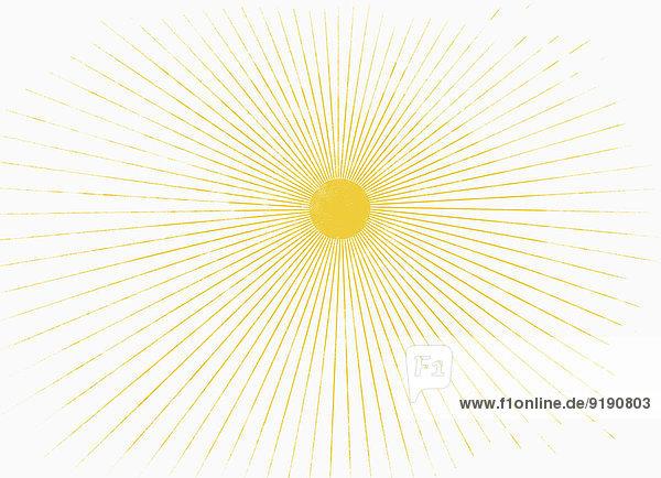 Illustratives Bild der Sonne auf weißem Hintergrund