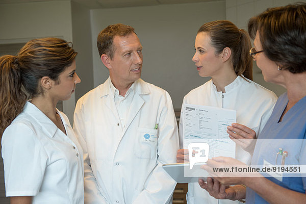 Medical-team discussing in hospital