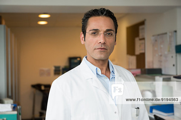 Portrait of a male doctor in hospital