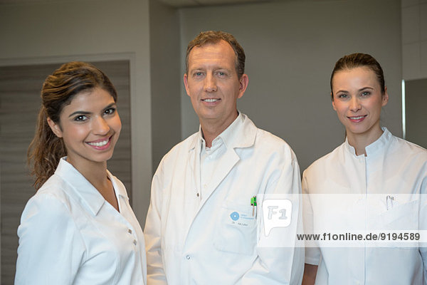 Portrait of medical-team smiling