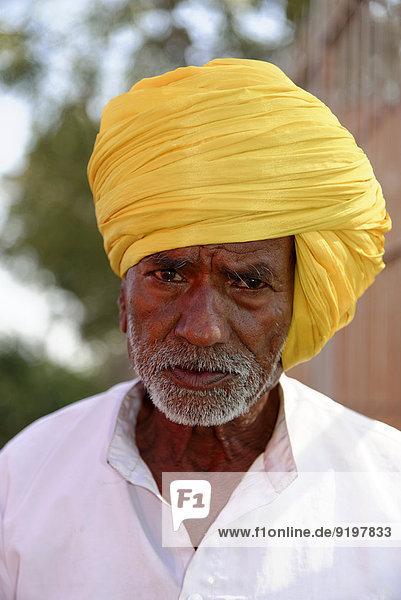 Älterer Inder  Bijapur  Karnataka  Indien