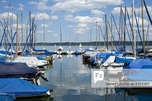 Yachthafen  Bernried am Starnberger See Bernried am Starnberger See  Bayern  Deutschland
