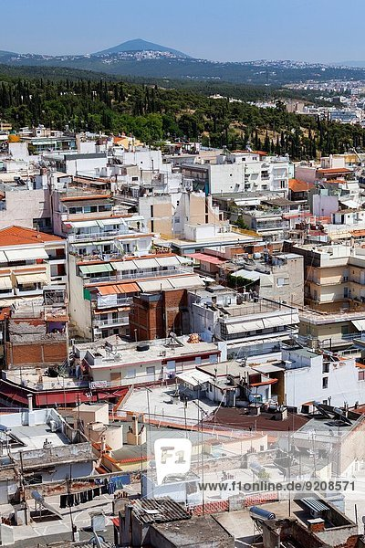 Greece  Central Macedonia Region  Thessaloniki  elevated city view from the Upper Town.