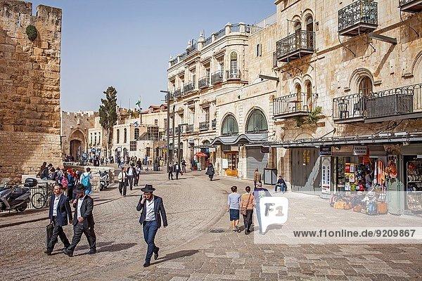 Jerusalem Hauptstadt Straße Hintergrund Eingang Israel