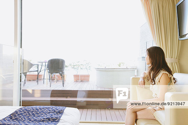 Frau Mode Zimmer Hotel japanisch