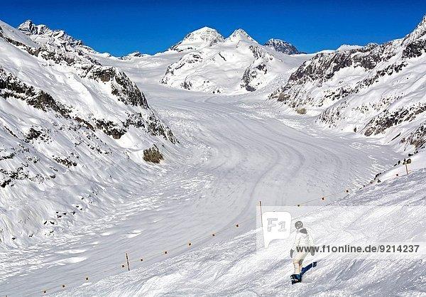 Aletschgletscher Geographie Berner Alpen UNESCO-Welterbe Schweiz Kanton Wallis
