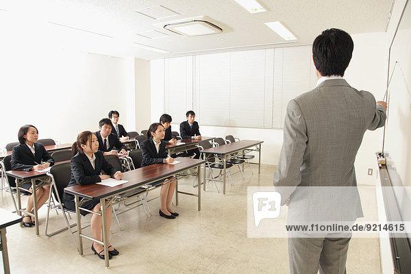 Japanese business people training