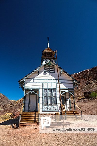 The Old School House in Calico Ghost Town  California  USA