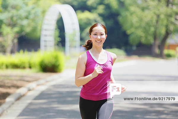 rennen jung Mädchen japanisch