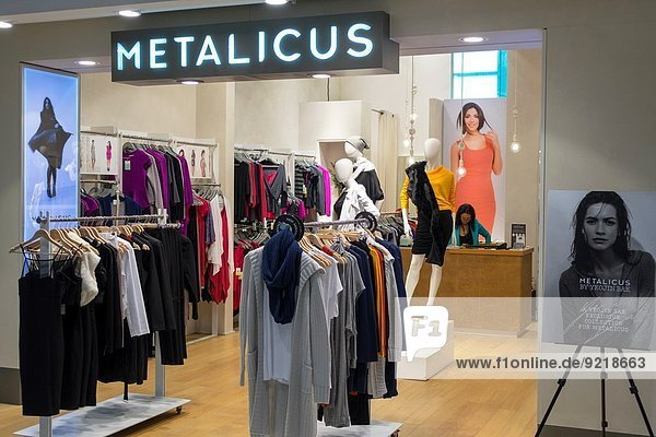 Australia  NSW  New South Wales  Sydney  Kingsford-Smith Airport  SYD  terminal  concourse  front  entrance  display  sale  shopping  fashion  Metalicus  women's  clothing.