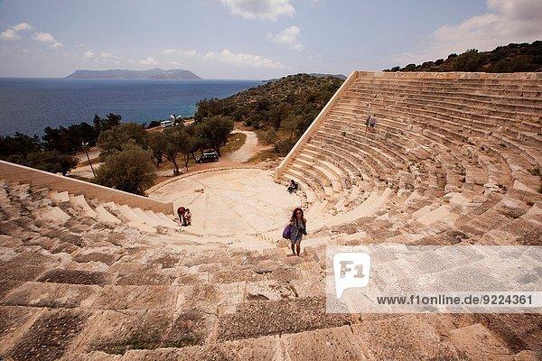 Europa Tourist Amphitheater Türkei lykischen Küste
