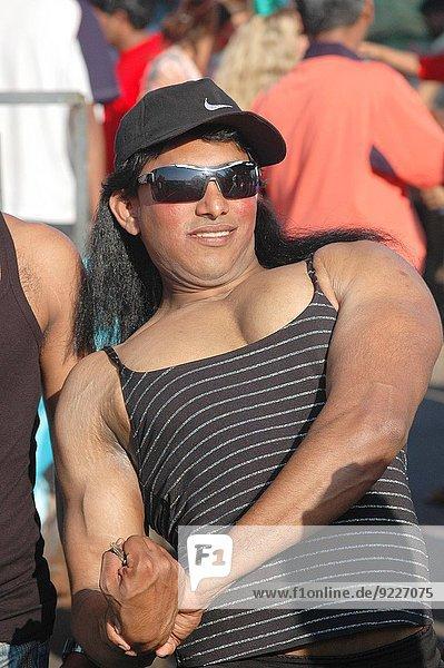 Panjim  Goa  India: gay bodybuilder at the Carnival