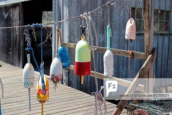 Fischereihafen Fischerhafen Küste Boot Dock Hummer Maine neu