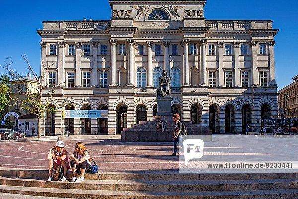 Warschau Hauptstadt Monument Palast Schloß Schlösser Polen