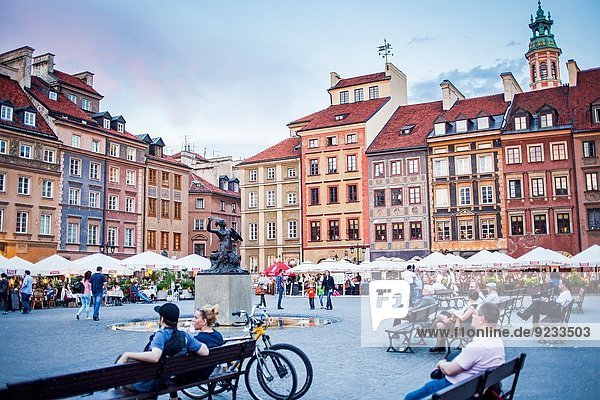 Warschau Hauptstadt Polen Rynek Starego Miasta