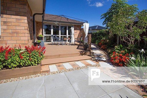 Pflanze Garten Terrasse Veranda Auckland Neuseeland
