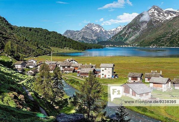 Tradition See Dorf Bauer Schweiz