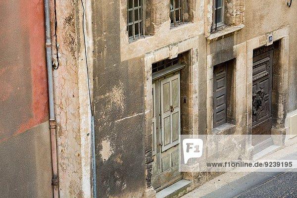 Mittelalter Frankreich Tür Dorf Provence - Alpes-Cote d Azur Bonnieux alt