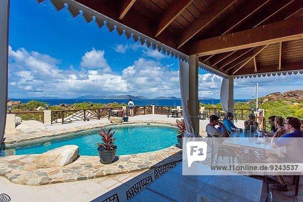 Top of the Baths Restaurant at The Baths on the Caribbean Island of Virgin Gorda in the British Virgin Islands.