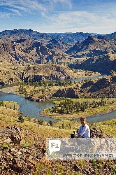 Fröhlichkeit gehen Morgen Ansicht Oregon
